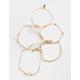 FULL TILT 5 Pack Cross/Rhinestone/Heart Bracelets