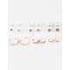 FULL TILT 9 Pairs Pearl/Rhinestone/Hoop Earrings