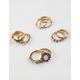 FULL TILT 9 Pack Moon Stone & Flower Ring Set