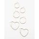 FULL TILT 3 Pack Heart Hoop Earring Set