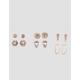 FULL TILT 6 Pair Rhinestone & Hoop Earring Set