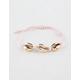 FULL TILT Puka Shell Pink Stretch Bracelet