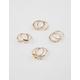 FULL TILT 8 Piece Triangle & Rhinestone Ring Set