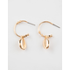 FULL TILT Puka Shell Hoop Earrings