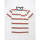 DISTORTION Retro Stripe Mens T-Shirt