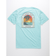VISSLA Adios Sunset Light Blue Mens T-Shirt