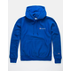 CHAMPION Embroidered Royal Blue Mens Hoodie