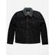 LEVI'S Sherpa Black Denim Mens Trucker Jacket