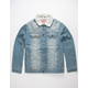 BROOKLYN CLOTH Sherpa Mens Denim Trucker Jacket