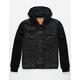 LEVI'S Hybrid Hooded Black Mens Trucker Jacket