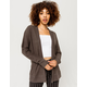 SKY AND SPARROW Thermal Charcoal Womens Cardigan