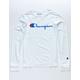 CHAMPION Heritage Script White Boys T-Shirt