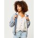 IVY & MAIN Drop Shoulder Fur Lined Womens Denim Jacket