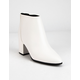 DELICIOUS Clean White Womens Booties