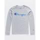 CHAMPION Heritage Script Heather Gray Boys T-Shirt