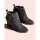 DOLCE VITA Gabby Anthracite Suede Womens Wedge Booties