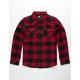 RSQ Monty Red & Black Boys Flannel Shirt