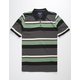 VSTR Stripe Green Mens Polo Shirt