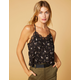WEST OF MELROSE He Lace Me, He Lace Me Not Floral Womens Cami
