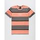 HUF Mazon Stripe Charcoal Mens T-Shirt