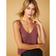 WEST OF MELROSE Yarning For You Maroon Womens Tank