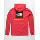 THE NORTH FACE Red Box Red & White Mens Hoodie