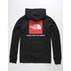 THE NORTH FACE Red Box Red & Black Mens Hoodie