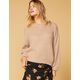WEST OF MELROSE Turn Knit Up Womens Keyhole Sweater