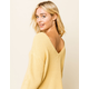 AMUSE SOCIETY Sunset Road Gold Womens Crop Sweater