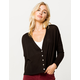 HEART & HIPS Button Front Dolman Black Womens Cardigan
