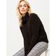 OTHERS FOLLOW Black Womens Turtleneck Sweater
