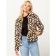 OTHERS FOLLOW Leopard Sherpa Womens Jacket