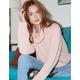 IVY & MAIN Shaker Knit Turtleneck Light Pink Womens Sweater