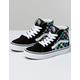 VANS Iridescent Check Sk8-Hi Black & True White Girls Shoes