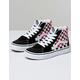 VANS Checkerboard Sk8-Hi Black & Racing Red Kids Shoes