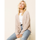 WEST OF MELROSE Knit Ain't Over Tan Womens Cardigan
