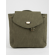 Faux Suede Olive Mini Backpack