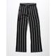 WHITE FAWN Stripe Black & White Girls Palazzo Pants