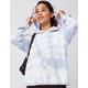 FULL TILT Tie Dye Light Blue Womens Hooded Sweater