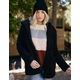SKY AND SPARROW Sherpa Womens Hooded Cardigan