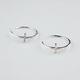 FULL TILT Rhinestone Cross Hoop Earrings