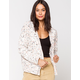 SKY AND SPARROW Cable Knit Womens Crop Cardigan