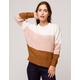 WOVEN HEART Color Block Boyfriend Womens Sweater