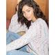 IVY & MAIN Popcorn Chenille Womens Sweater