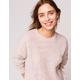 SKY AND SPARROW Fuzzy Boyfriend Womens Tunic Sweater