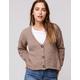FULL TILT Essentials Fuzzy Taupe Womens Cardigan