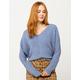 FULL TILT Essentials V-Neck Dolman Blue Womens Crop Sweater