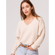 FULL TILT Essentials V-Neck Dolman Cream Womens Crop Sweater