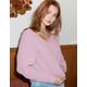 FULL TILT Essentials V-Neck Dolman Pink Womens Crop Sweater