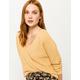 FULL TILT Essentials V-Neck Dolman Yellow Womens Crop Sweater